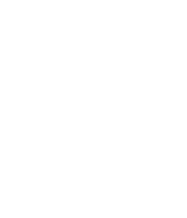 White line cartoon of bearded man in shop apron holding the letter D and hammer over a saw horse.